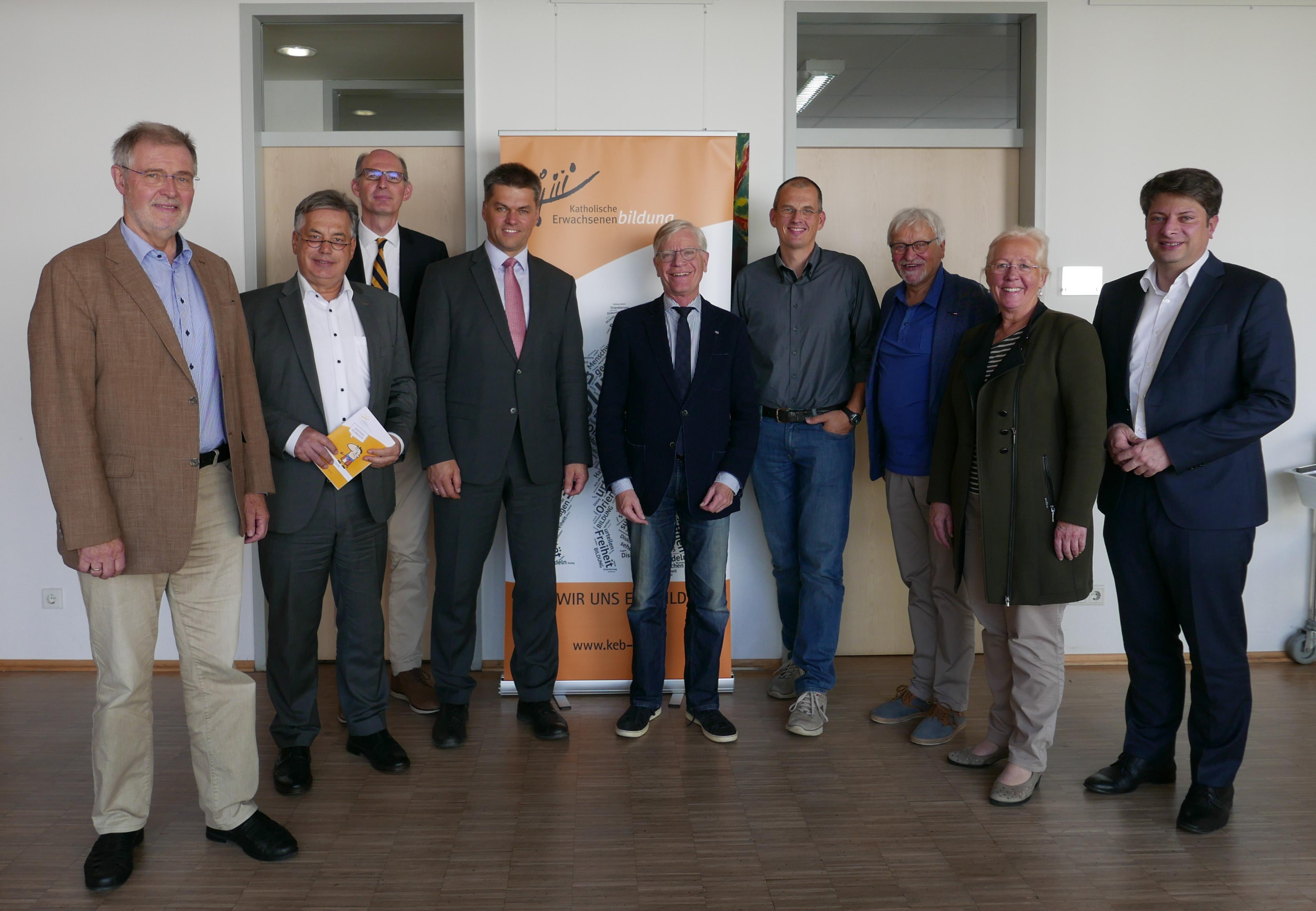 CDU-Bildungspolitiker und Vertreter von KEB und EEB im Gespräch